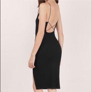 Sexy Black Midi Dress